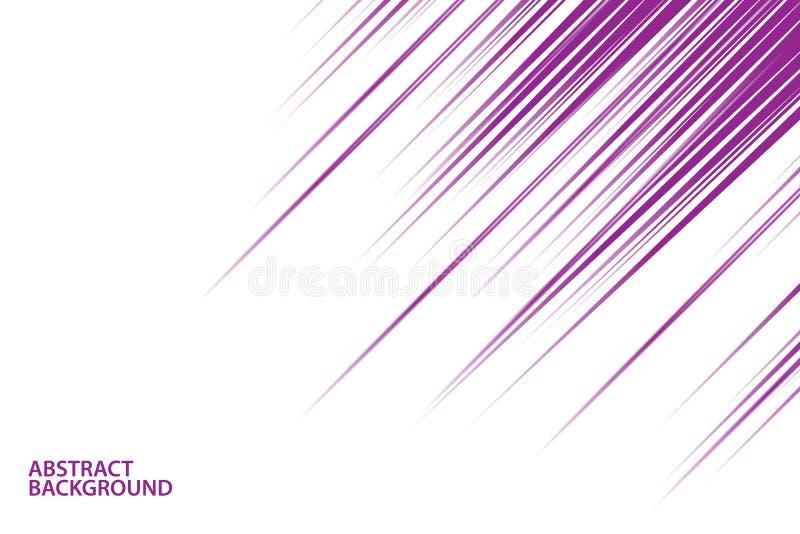 Abstracte violette diagonale lijnen op witte achtergrond royalty-vrije illustratie