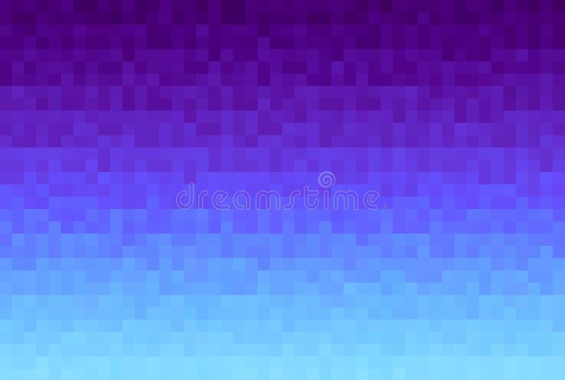 Abstracte violette gradiëntachtergrond Textuur met pixel vierkante blokken Mozaïekpatroon stock illustratie