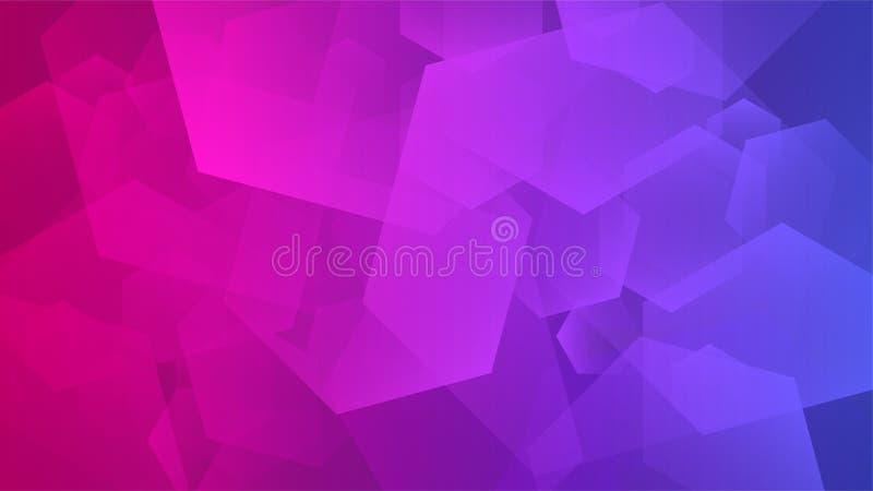 Abstracte violette, roze en rode geometrische achtergrond, stock illustratie