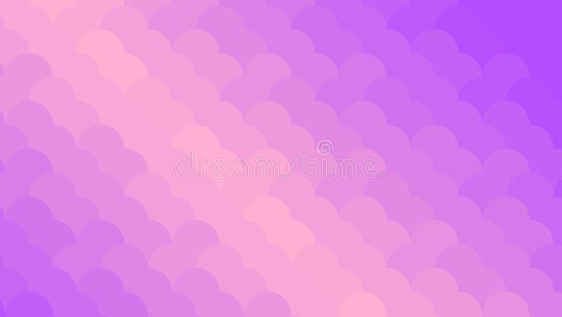 Abstracte viooltje en perzikneonachtergrond Helder Geometrisch Patroon mozaïek Abstracte vector horizontale illustratie, royalty-vrije illustratie