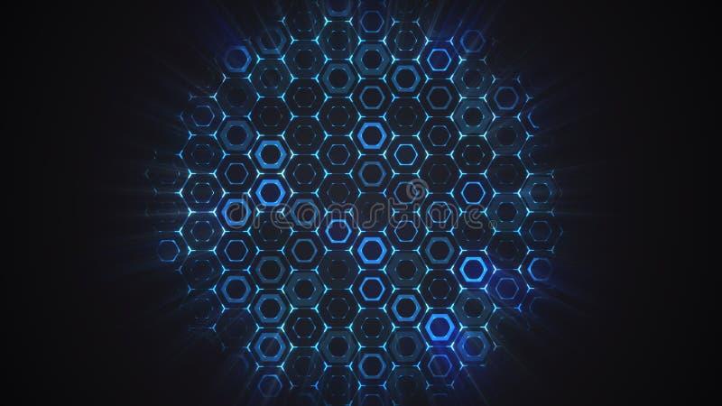 Abstracte vlakke hexagon technologie royalty-vrije stock foto's