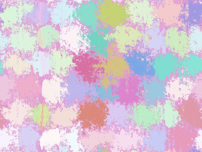 Abstracte Vlek het Schilderen Achtergronden. Multicolored Patroon stock illustratie