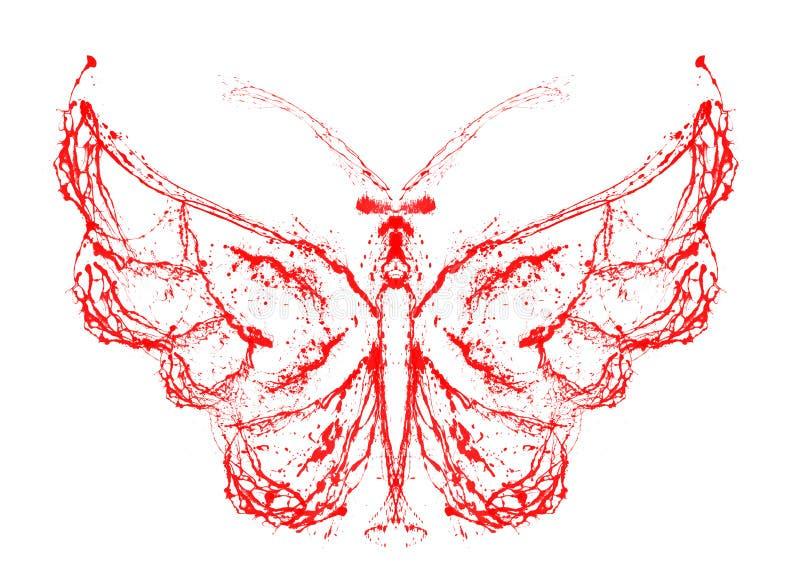 Abstracte Vlinder Stock Foto