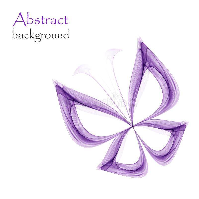 Abstracte vlinder op witte achtergrond stock illustratie
