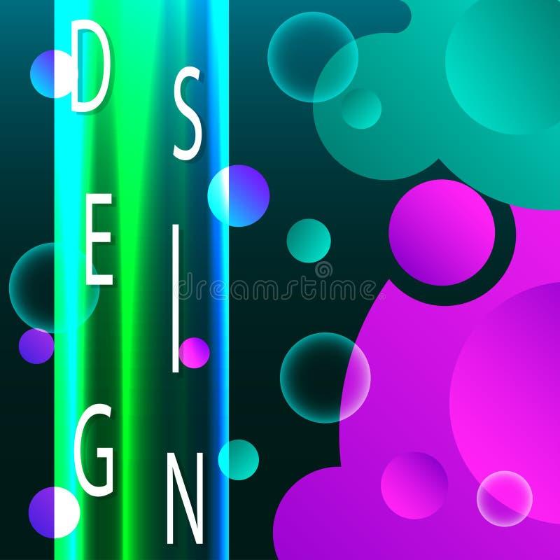 Abstracte Vloeibare creatieve malplaatjes, kaarten, kleur vector illustratie