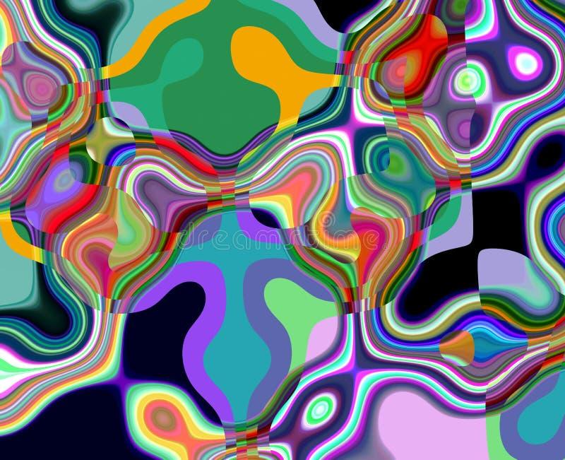 Abstracte vloeibare violette purpere oranje meetkunde, achtergrond en textuur vector illustratie