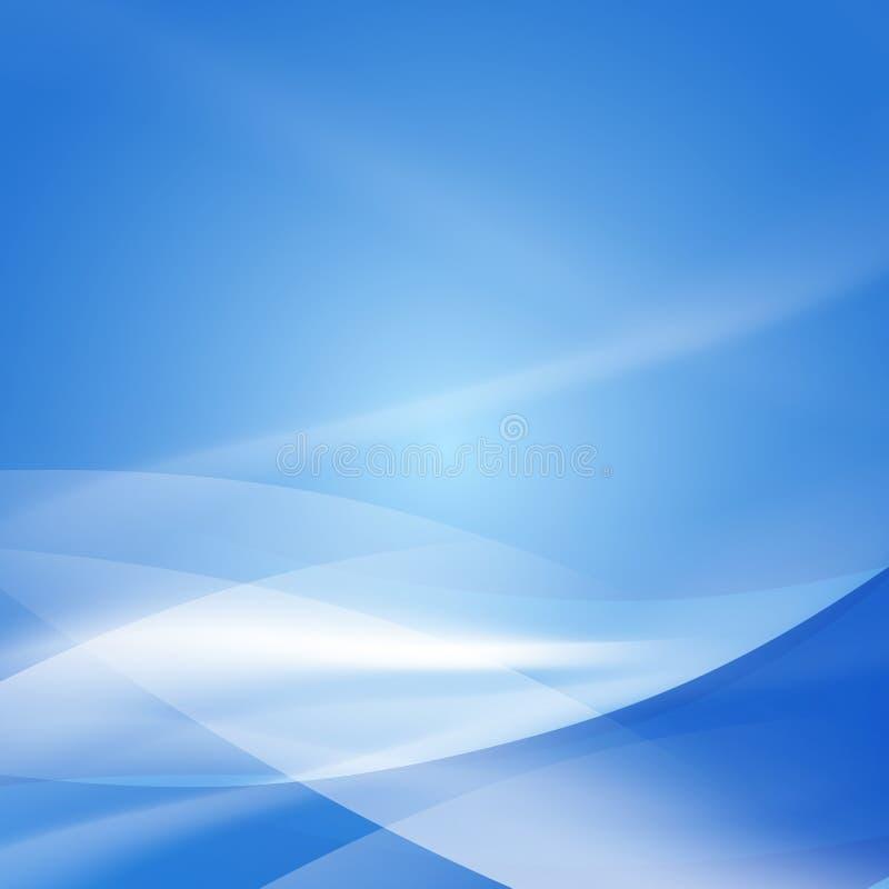 Abstracte vlotte blauwe stroomachtergrond, Vector & illustratie stock illustratie
