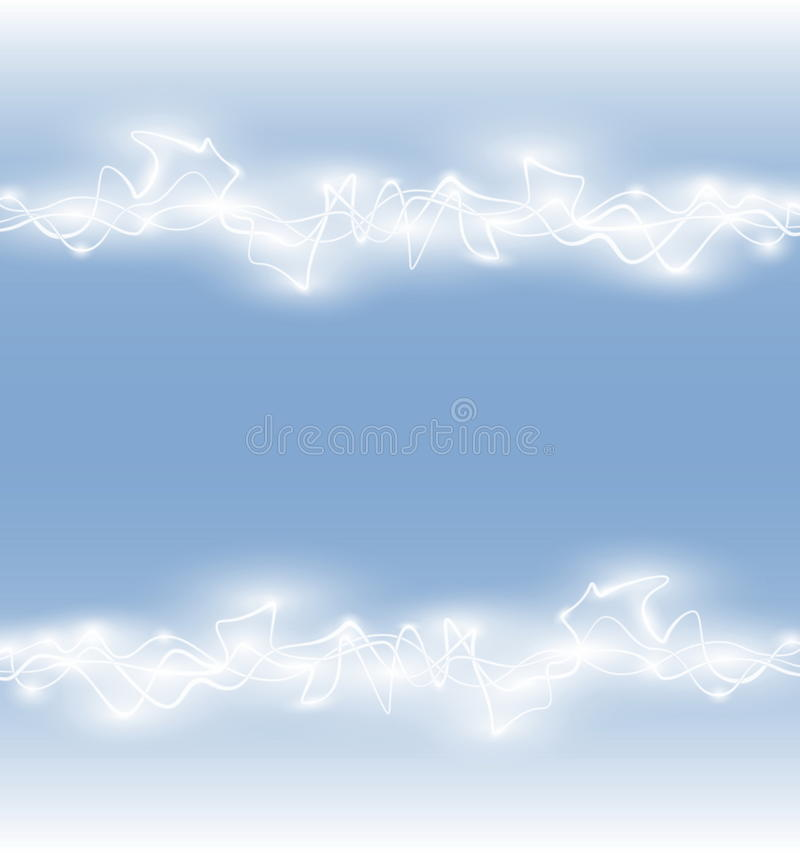 Abstracte vlotte gloed lichte golf stock illustratie
