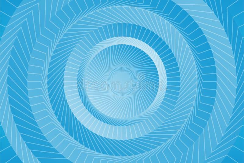 Abstracte vlotte lichtblauwe perspectiefachtergrond royalty-vrije illustratie