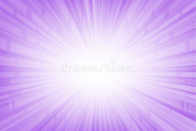 Abstracte vlotte lichtpaarse perspectiefachtergrond vector illustratie