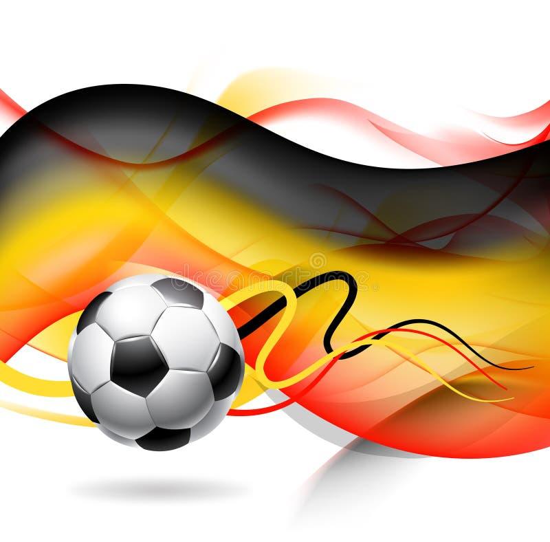 Abstracte voetbalachtergrond vector illustratie