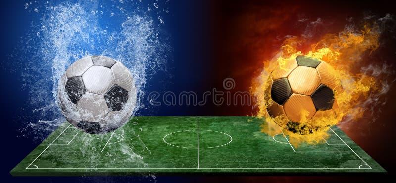 Abstracte voetbalballen stock afbeelding
