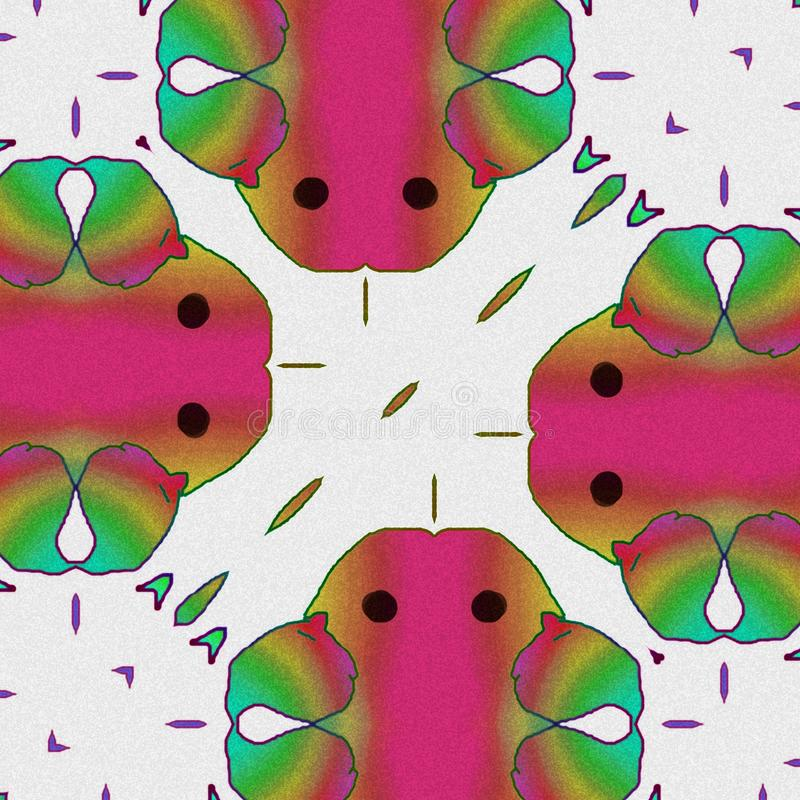 Abstracte Vogels de kleuren en de vormen van vogels Gelukkig beeldverhaal stock illustratie