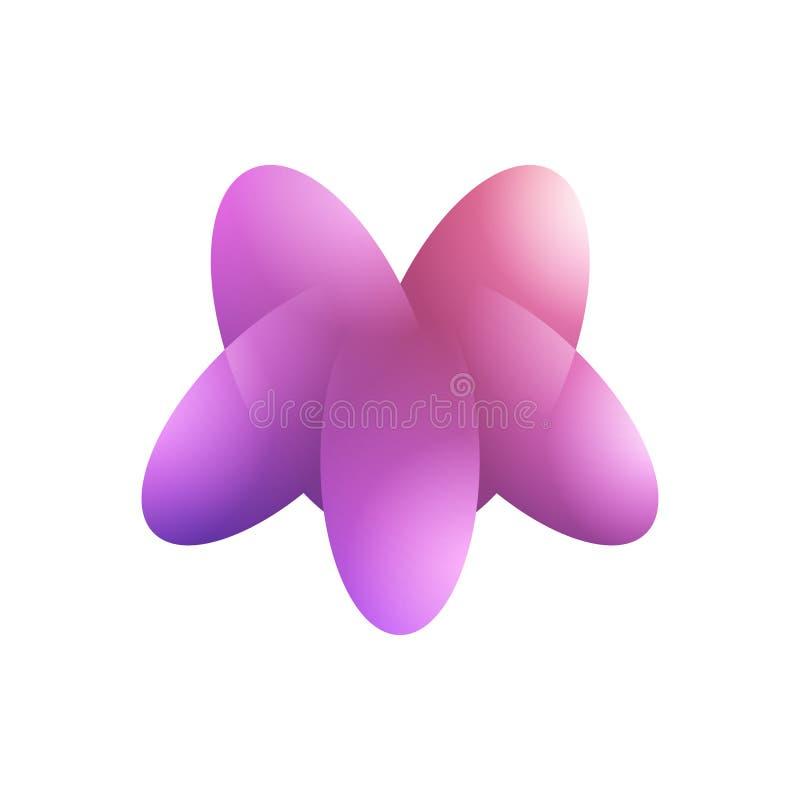 Abstracte vorm kleurrijke gradi?nt stock illustratie