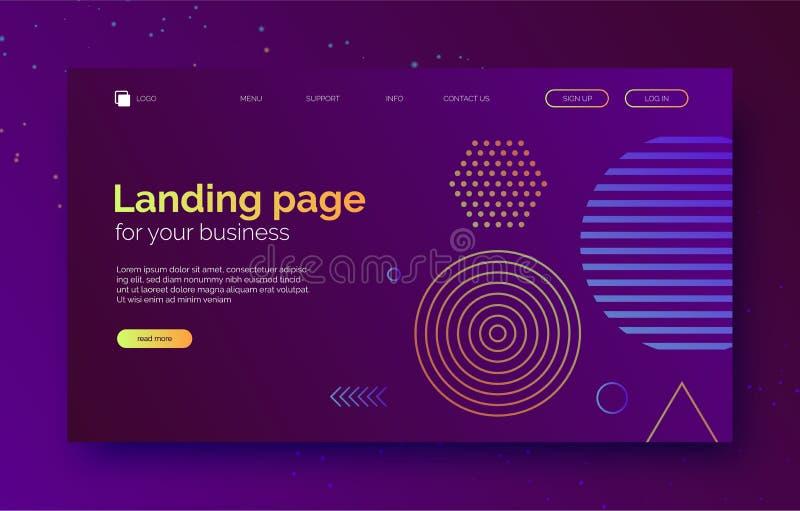 Abstracte vormenachtergrond, banner voor presentatie, landingspagina, website vector illustratie