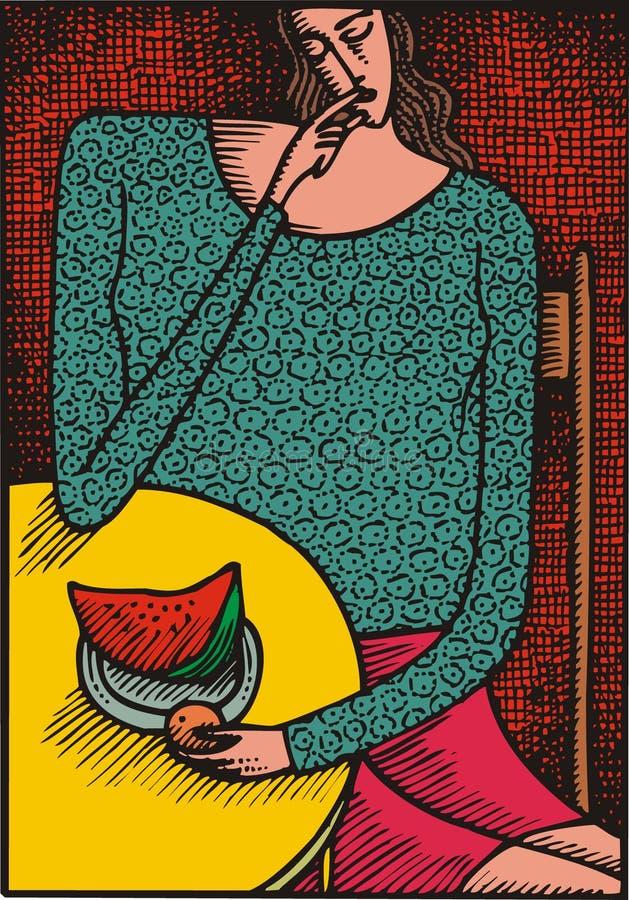 Abstracte vrouw royalty-vrije illustratie
