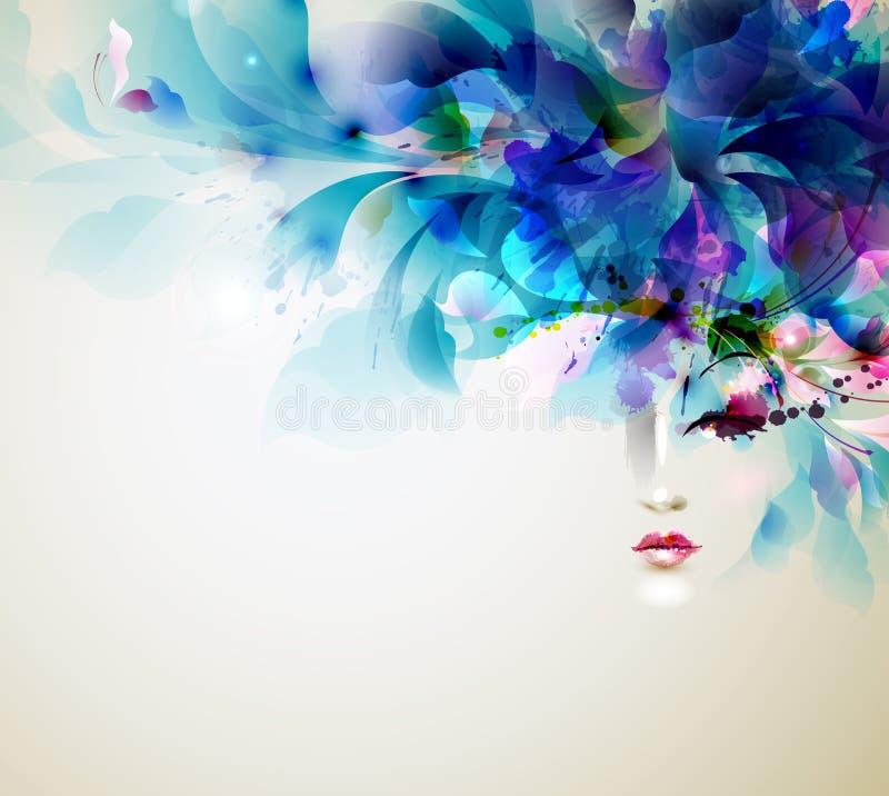 Abstracte vrouwen vector illustratie