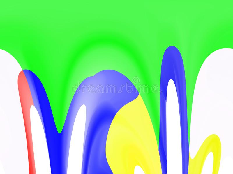 Abstracte vvid speelse vormen, meetkunde, heldere achtergrond, kleurrijke meetkunde stock illustratie