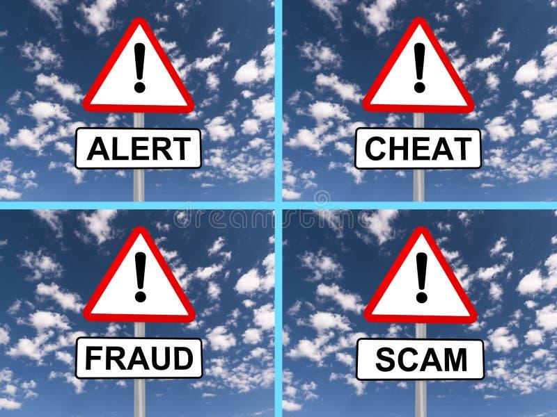 Abstracte waarschuwingsborden stock illustratie