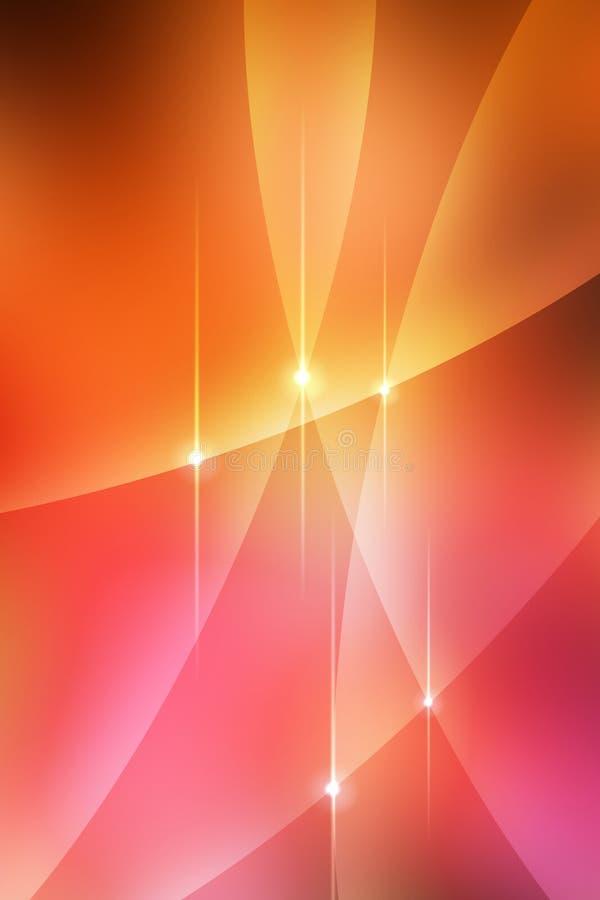 Abstracte Warme Krommen Royalty-vrije Stock Fotografie