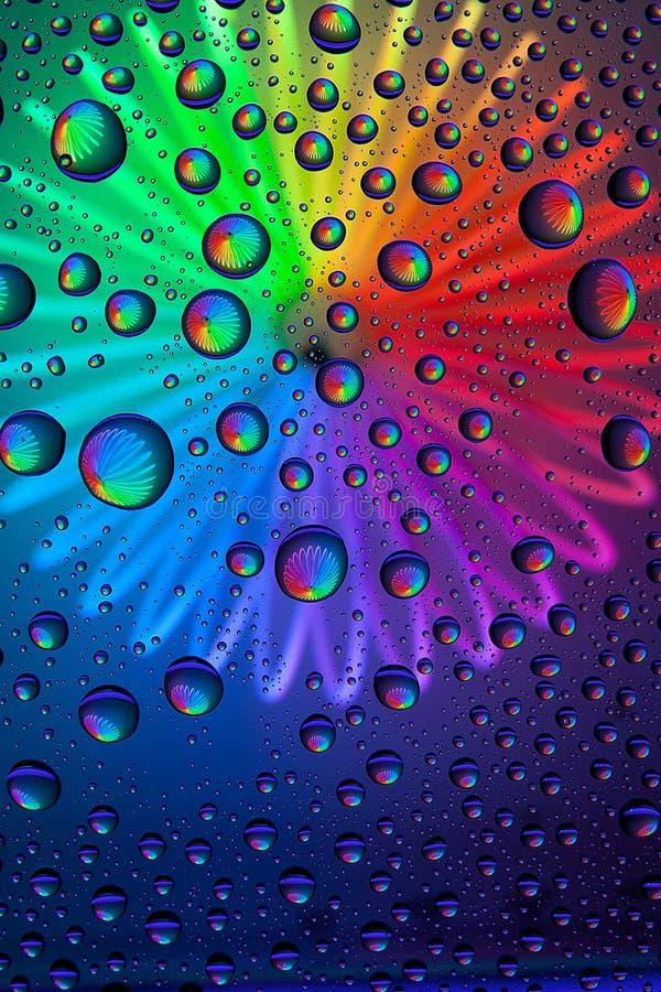 Abstracte waterdalingen stock foto's
