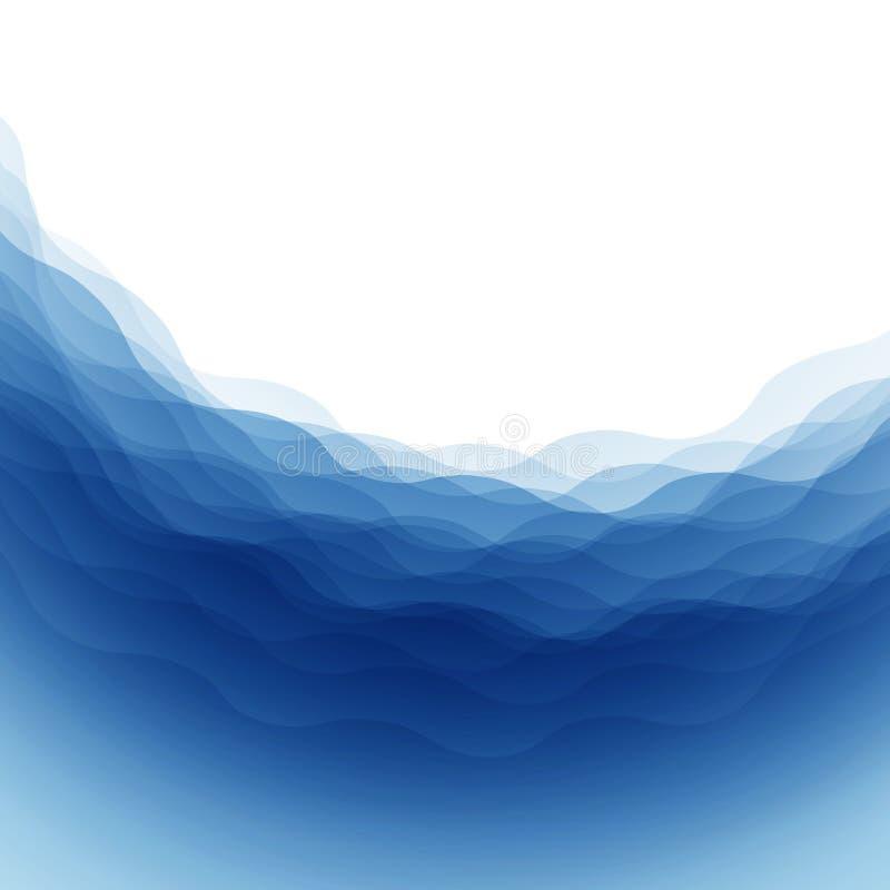Abstracte watergolven royalty-vrije illustratie
