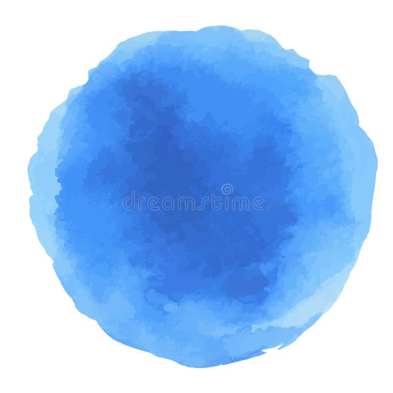 Abstracte Waterverf blauwe punten royalty-vrije illustratie