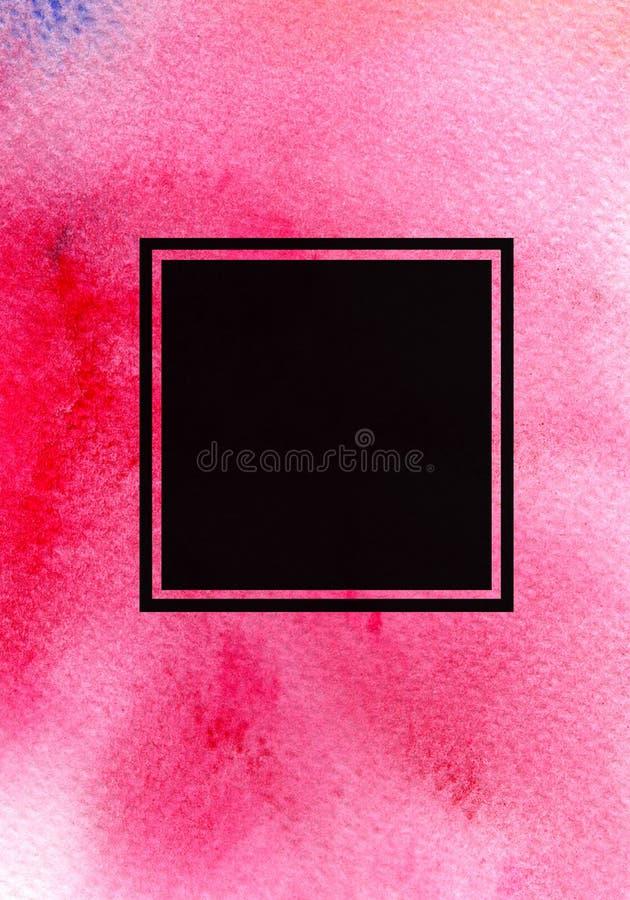 Abstracte waterverf geschilderde achtergrond, bedrijfs collectieve brochure, vlieger Helder modern ontwerpmalplaatje met plaats v stock illustratie