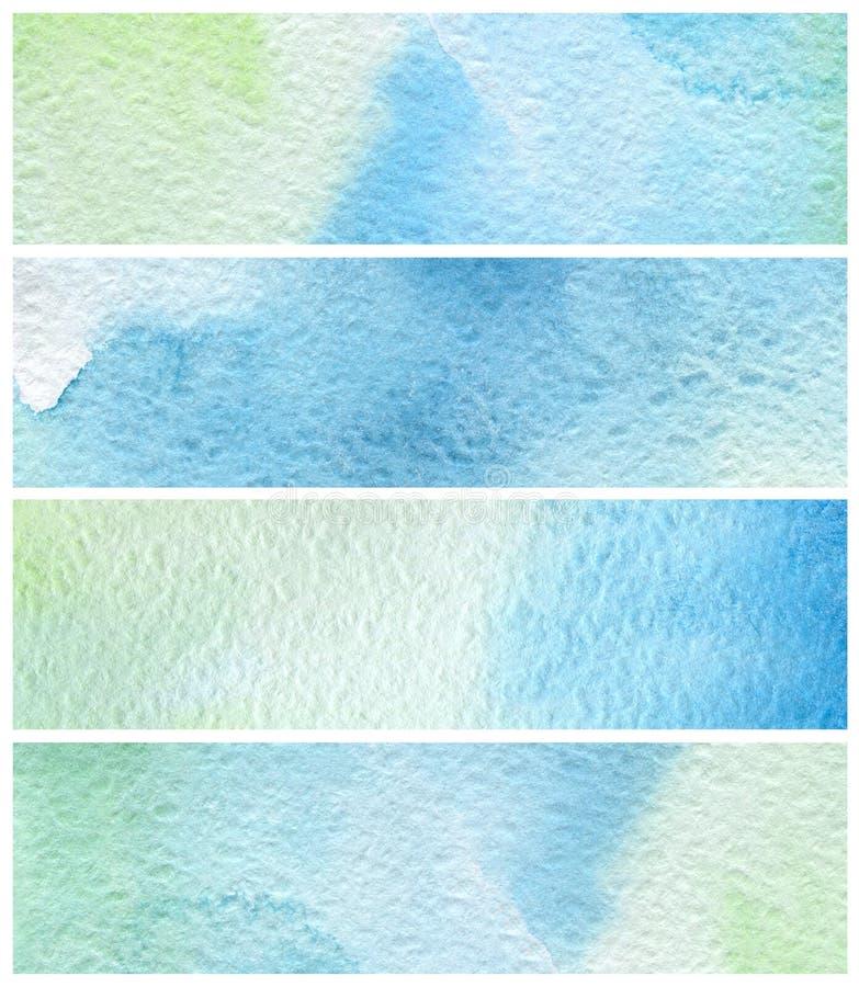 Abstracte waterverf geschilderde achtergronden royalty-vrije illustratie
