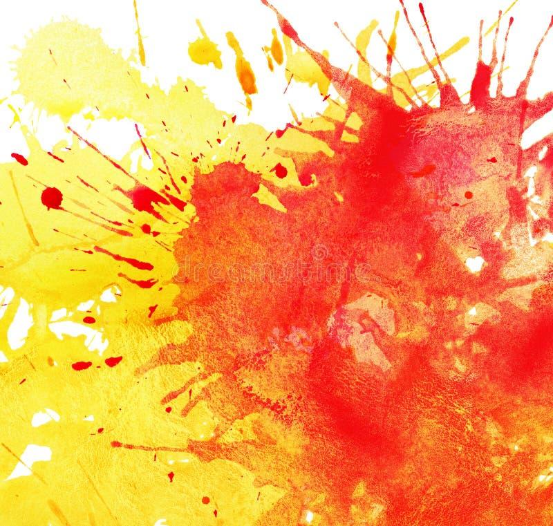 Abstracte waterverf, inktplonsen stock illustratie