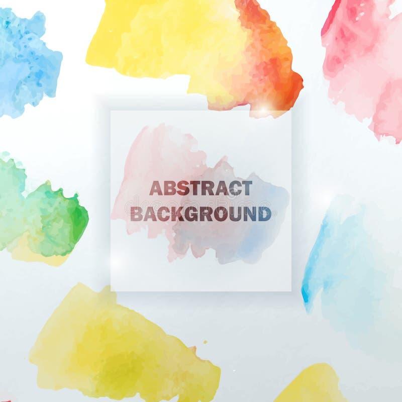 Abstracte Waterverf Kleurrijke Achtergrond met Plonsen stock illustratie