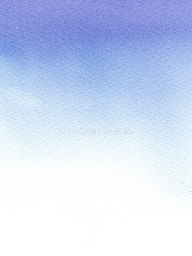 Abstracte Waterverf Natte blauwe achtergrond met gradiënteffect Waterverfwas met ombre stock illustratie