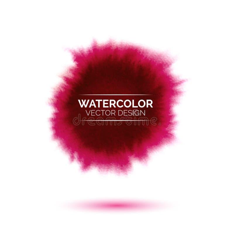 Abstracte waterverf rode vlek op witte achtergrond vector illustratie