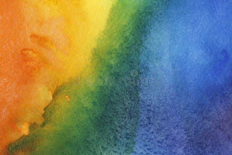 Abstracte waterverfachtergrond stock fotografie