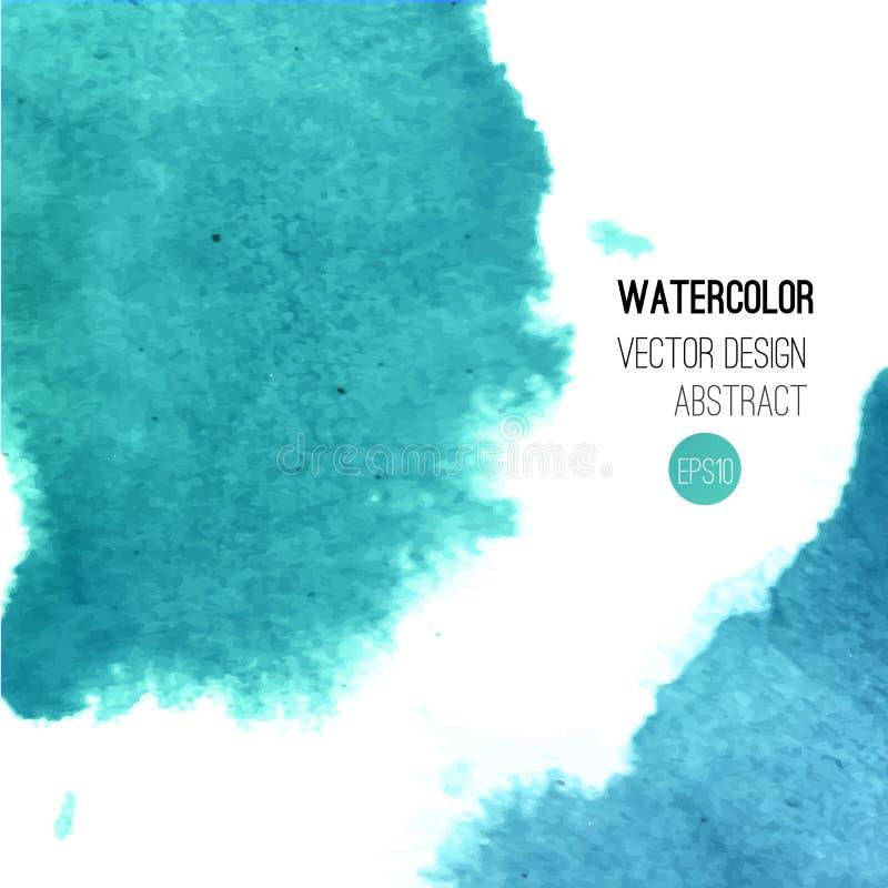 Abstracte waterverfachtergrond stock illustratie