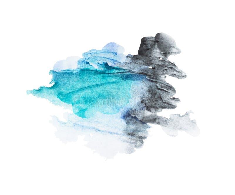 Abstracte waterverfachtergrond vector illustratie