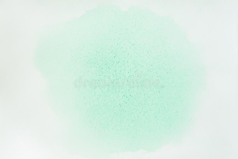 Abstracte waterverfachtergrond Gevoelige schaduwen van tedere groene de lentekleuren, hand-drawn, document textuur Kunstwerk voor stock fotografie