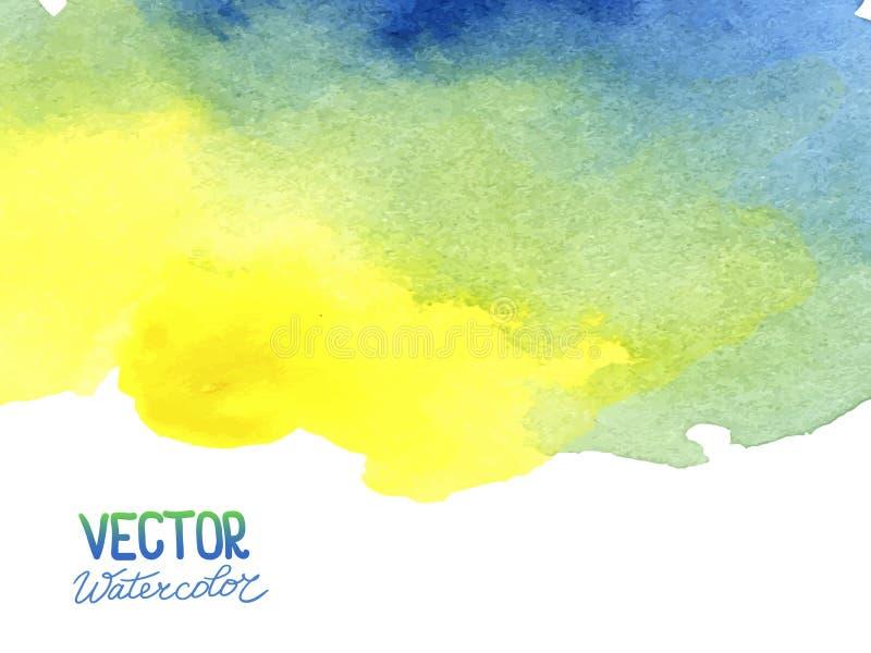 Abstracte waterverfachtergrond voor uw ontwerp stock fotografie