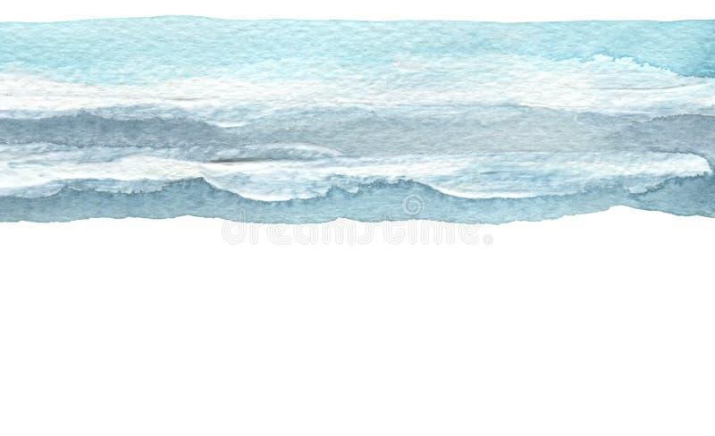 Abstracte waterverfkwaststreek geschilderde achtergrond Het document van de textuur Geïsoleerde stock fotografie