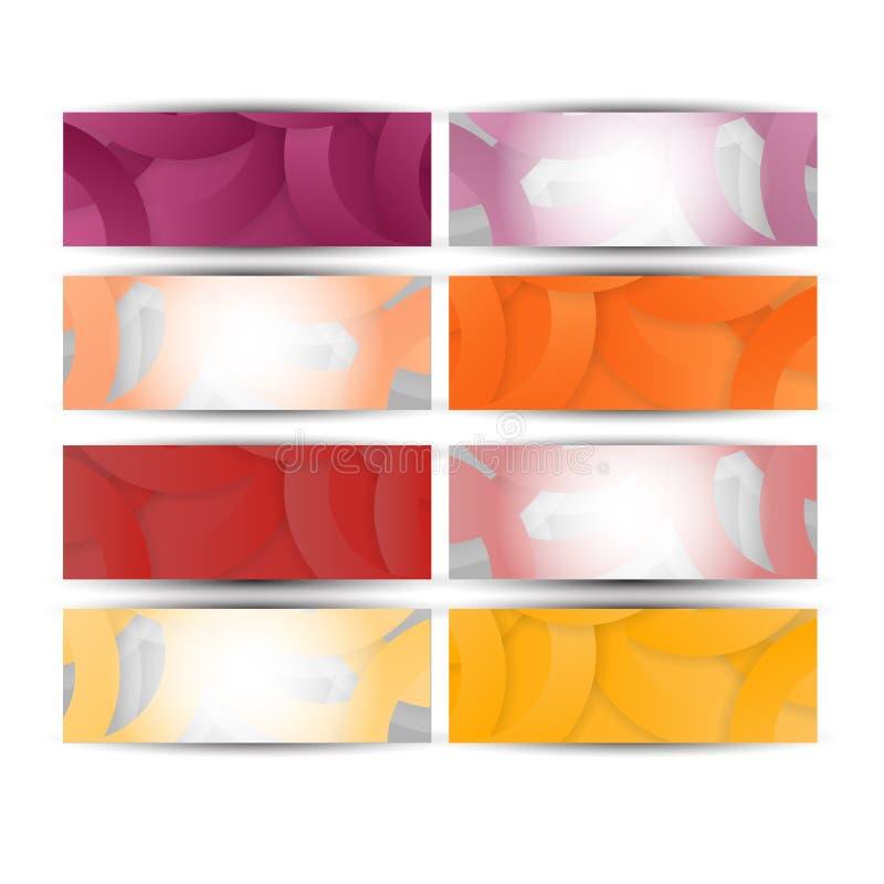 Abstracte websitekopbal of banner stock illustratie