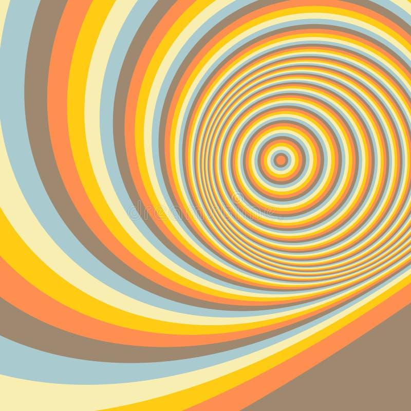 Abstracte wervelingsachtergrond Patroon met optisch royalty-vrije illustratie