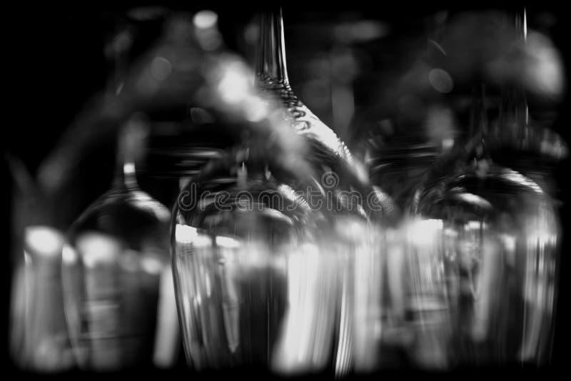 Abstracte wijnglazen royalty-vrije stock afbeeldingen