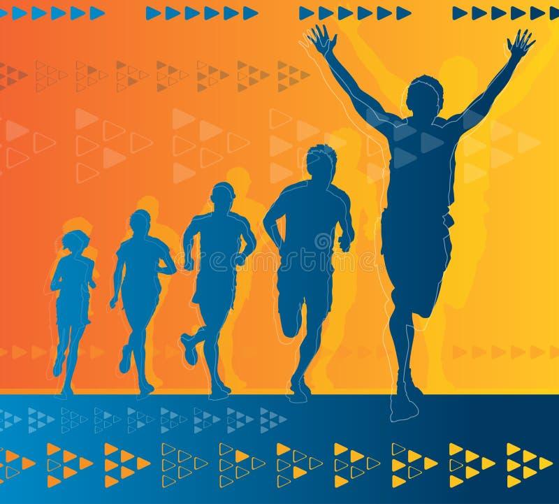 Abstracte Winnende Atleet stock illustratie