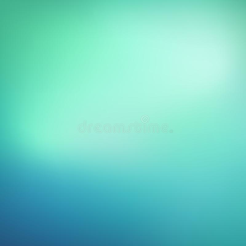 Abstracte wintertalingsachtergrond Vage blauwe en groene achtergrond Smoot vector illustratie