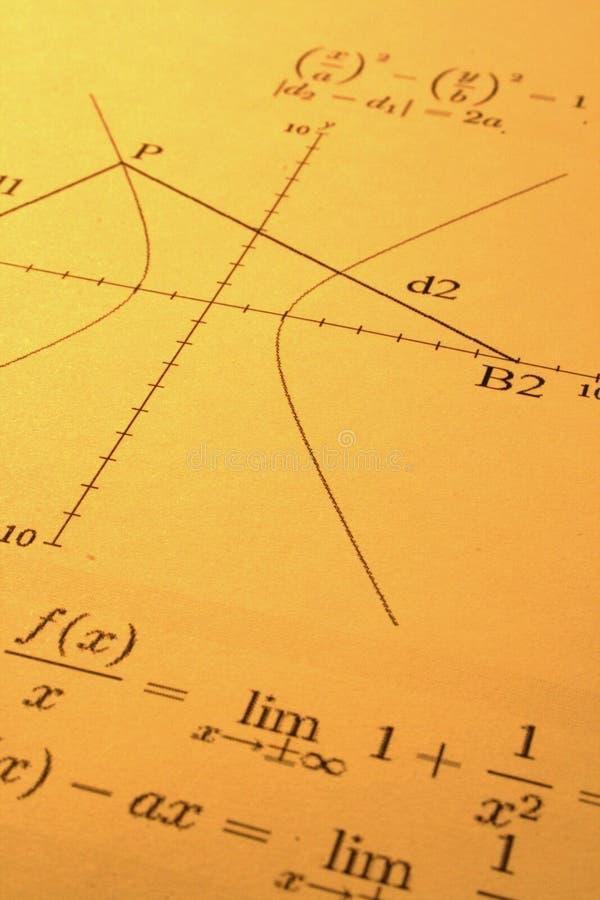 Abstracte wiskunde royalty-vrije stock afbeeldingen