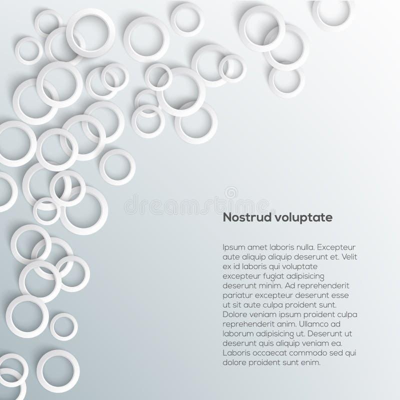 Abstracte Witboekcirkels op lichte achtergrond. royalty-vrije illustratie