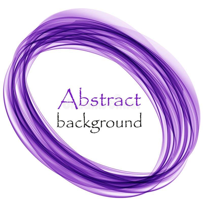 Abstracte witte achtergrond met blauwe lijnen in de vorm van een cirkel stock illustratie