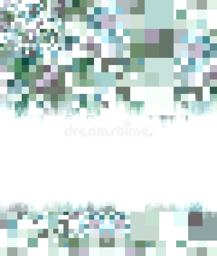 Abstracte witte & blauwe achtergrond stock illustratie