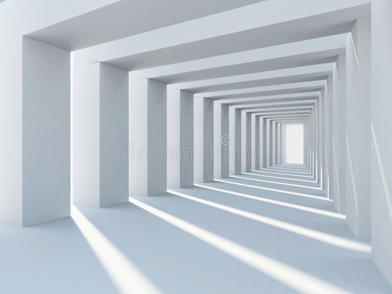 Abstracte witte architectuur royalty-vrije illustratie