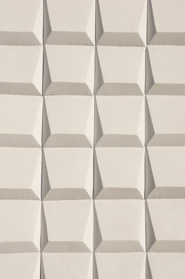 Abstracte witte decoratie van een buitenmuur stock for Buitenmuur decoratie